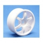 1/10 Turing Car 24mm 6-Spoke, White, Set � 4stk.