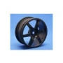 1/10 Turing Car 24mm 6-Spoke, Black, Offset Set � 4 stk.