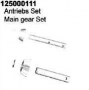 Ansmann 125000111 Diff Pinion Gear + Shaft - Smacker/ARE1(Fr + R