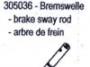 Carson 305036 Bremswelle