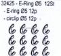 Carson 32425 E-Ringe 12 St�ck