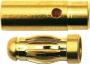 Goldkontakt 3mm (1 Paar)