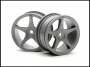HPI 3698 Super Star 26mm Gray 1mm Offset Wheels (2)
