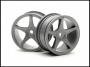 HPI 3698 Super Star 26mm Gray 1mm Offset Wheels (2)