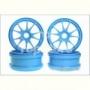 Kyosho IFH002BL  Ten-Spoke Wheel (Blue/4pcs)